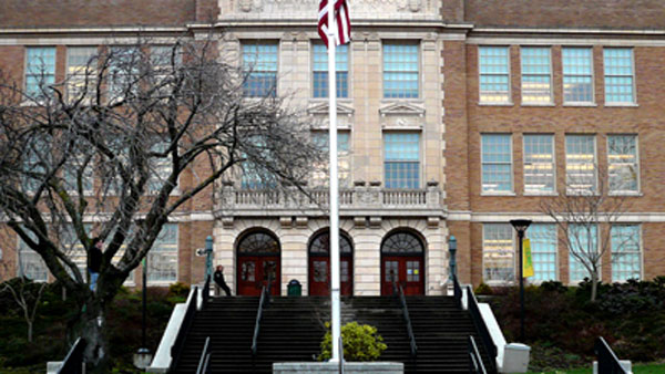 McGowan attended Roosevelt High School and Nova Alternative High School in Seattle, Washington.Pictured: A photo of Roosevelt High School from their official website. <span class=meta>(flickr.com&#47;photos&#47;sgt_spanky&#47;)</span>
