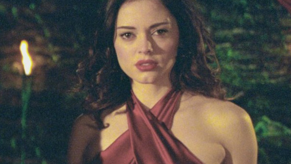 McGowan appears in a scene from the TV show 'Charmed.'