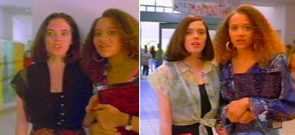 Rose McGowan appears in a scene from the 1992 film 'Encino Man.'
