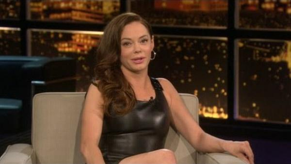 Rose McGowan appears in a still from an August 2011 episode of 'Chelsea Lately.'