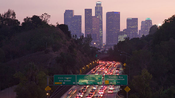 A photo of Los Angeles from 2008.