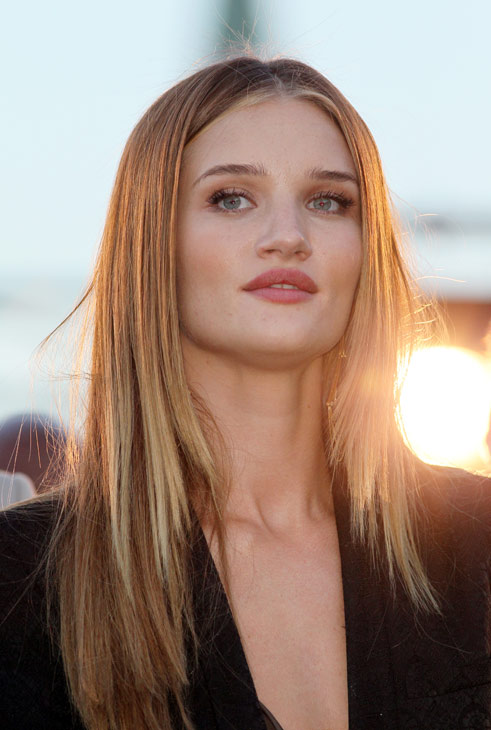 Rosie Huntington-Whiteley attends a 'Transformers 3: Dark of the Moon' event, which included a Linkin Park concert, in Moscow, Russia on June 23, 2011.