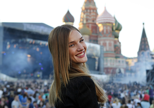 Rosie Huntington-Whiteley attends a &#39;Transformers 3: Dark of the Moon&#39; event, which included a Linkin Park concert, in Moscow, Russia on June 23, 2011. <span class=meta>(Oleg Nikishin &#47; Getty Images &#47; Royalty-free)</span>
