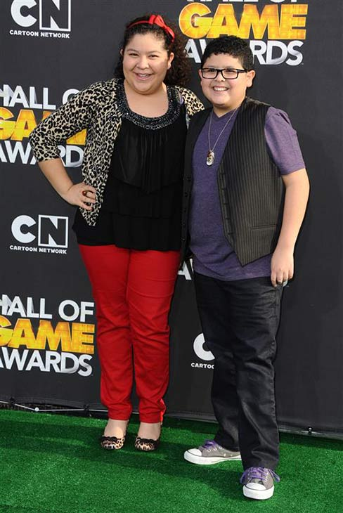 &#39;Modern Family&#39; star Rico Rodriguez appears with his sister Raini Rodriguez at the 2012 Cartoon Network Hall of Game Awards at Barker Hangar at Santa Monica Airport in Santa Monica, California on Feb. 17, 2012. <span class=meta>(Sara De Boer &#47; Startraksphoto.com)</span>