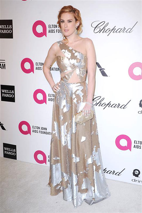 Actress Rumer Willis, daughter of Bruce Willis, appears at the 2014 Elton John AIDS Foundation&#39;s Oscar party in Los Angeles, California on March 2, 2014. <span class=meta>(HOLLYWOOD PRESS &#47; Abusa&#47; Startraksphoto.com)</span>