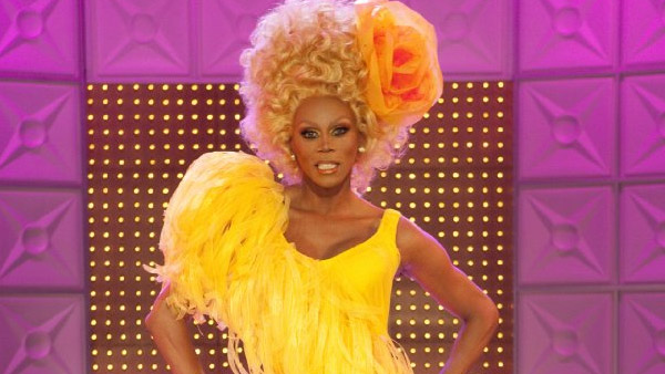 RuPaul appears in a scene from his television...