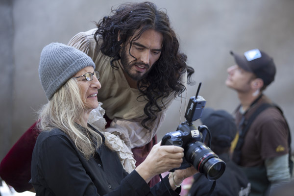 Russell Brand appears in a behind the scenes...