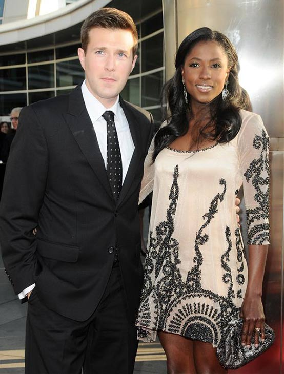 Rutina Wesley and husband Jacob Fishel attend the 'True Blood' season 4 premiere in Los Angeles on June 21, 2011.