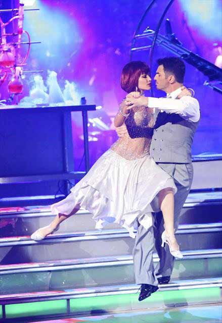 "<div class=""meta ""><span class=""caption-text "">Reality star Melissa Rycroft and her partner Tony Dovolani react to being safe from elimination on 'Dancing With The Stars: The Results Show' on October 16, 2012. The pair received 37 out of 40 points from the judges for their Jitterbug on 'Dancing With The Stars: All-Stars,' which aired on October 15, 2012. (ABC Photo)</span></div>"