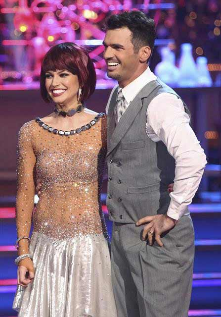 Melissa Rycroft and Tony Dovolani appear in a still from 'Dancing With The Stars: All-Stars' on October 23, 2012.