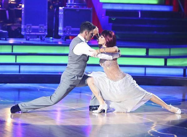 "<div class=""meta ""><span class=""caption-text "">Reality star Melissa Rycroft and her partner Tony Dovolani received 27 out of 30 points from the judges for their Tango on 'Dancing With The Stars: All-Stars,' which aired on October 23, 2012. (ABC Photo)</span></div>"
