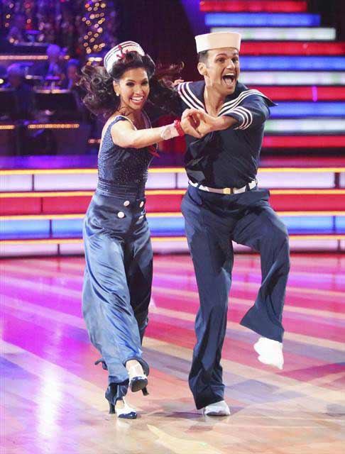"<div class=""meta ""><span class=""caption-text "">Reality star Melissa Rycroft and her partner Tony Dovolani received 30 out of 30 points from the judges for their Quickstep on  'Dancing With The Stars: All-Stars,' which aired on November 12, 2012. (ABC / OTRC)</span></div>"