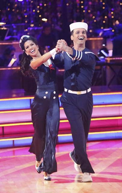 Reality star Melissa Rycroft and her partner Tony Dovolani received 30 out of 30 points from the judges for their Quickstep on 
