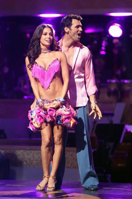 Melissa Rycroft and Tony Dovolani appear in a still from 'Dancing With The Stars: All-Stars' on October 9, 2012.