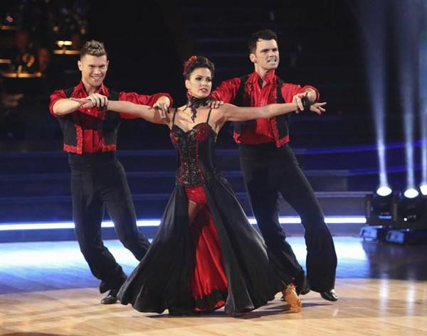 Reality star Melissa Rycroft and her dance partners Tony Dovolani and Henry Byalikov received 30 out of 30 points from the judges  for their Paso Doble on &#39;Dancing With The Stars: All-Stars,&#39; which aired on November 12, 2012. <span class=meta>(ABC &#47; OTRC)</span>