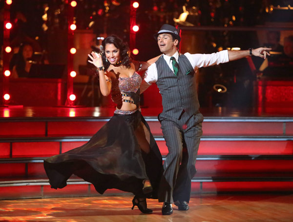 Melissa Rycroft and Tony Dovolani appear in a still from 'Dancing With The Stars: All-Stars' on September 24, 2012.