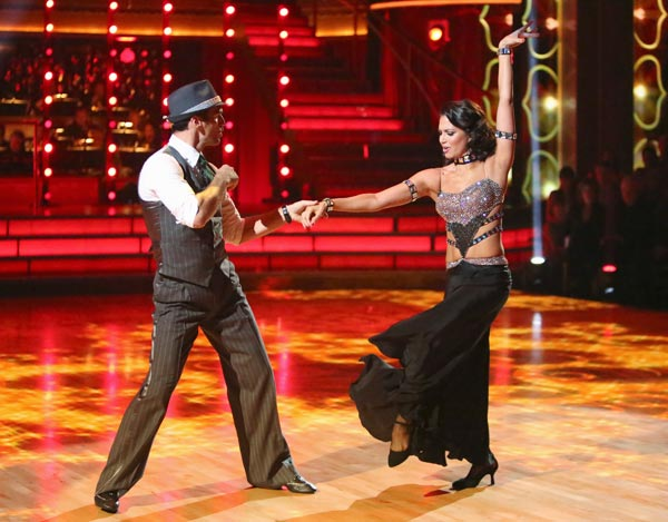 Reality star Melissa Rycroft and her partner Tony Dovolani received 21 out of 30 points from the judges for their Fox Trot on the season premiere of &#39;Dancing With The Stars: All-Stars,&#39; which aired on September 24, 2012.  <span class=meta>(ABC &#47; Adam Taylor)</span>
