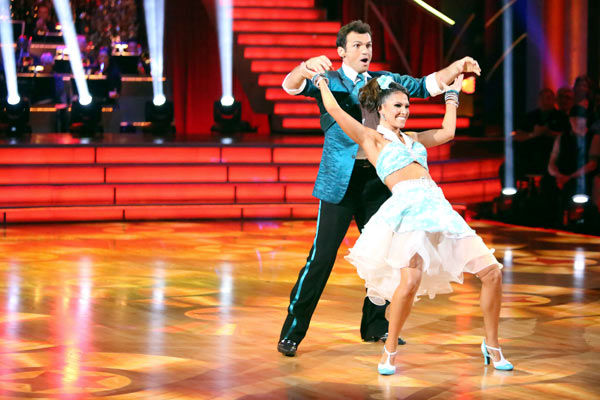 Reality star Melissa Rycroft and her partner Tony Dovolani received 23.5 out of 30 points from the judges for their Jive on week two of &#39;Dancing With The Stars: All-Stars,&#39; which aired on Oct. 1, 2012. <span class=meta>(ABC &#47; Adam Taylor)</span>