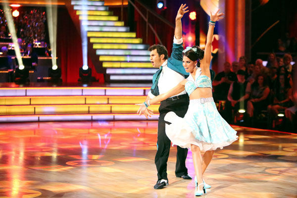 "<div class=""meta ""><span class=""caption-text "">Reality star Melissa Rycroft and her partner Tony Dovolani received 23.5 out of 30 points from the judges for their Jive on week two of 'Dancing With The Stars: All-Stars,' which aired on Oct. 1, 2012. (ABC / Adam Taylor)</span></div>"
