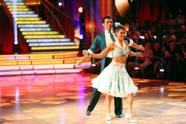 "<div class=""meta image-caption""><div class=""origin-logo origin-image ""><span></span></div><span class=""caption-text"">Reality star Melissa Rycroft and her partner Tony Dovolani received 23.5 out of 30 points from the judges for their Jive on week two of 'Dancing With The Stars: All-Stars,' which aired on Oct. 1, 2012. (ABC / Adam Taylor)</span></div>"