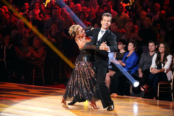 "<div class=""meta ""><span class=""caption-text "">Disney Channel actress Sabrina Bryan and her partner Louis Van Amstel received 26 out of 30 points from the judges for their Quickstep on week two of 'Dancing With The Stars: All-Stars,' which aired on Oct. 1, 2012. (ABC / Adam Taylor)</span></div>"