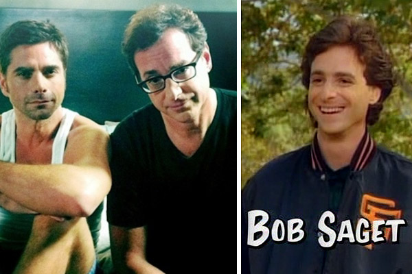 Bob Saget appears in a scene from the comedy series 'Full House.' / Bob Saget appears with John Stamos in a photo posted on Saget's Twitter page on Aug. 19, 2011.