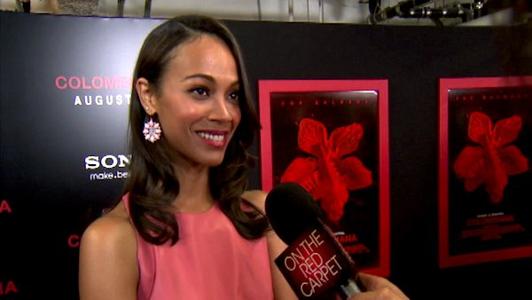 Zoe Saldana talks to OnTheRedCarpet.com at a...