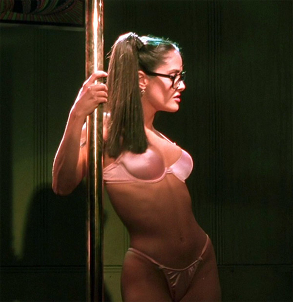 Salma Hayek appears in a scene from Kevin Smith's 1999 religion-themed comedy movie 'Dogma.'