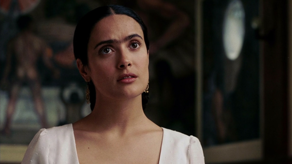 Salma Hayek appears as artist Frida Kahlo in a...