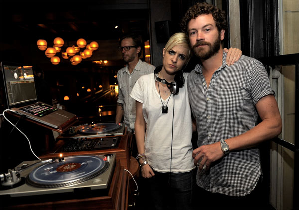 DJ Sam Ronson and 'That '70s Show' actor Danny Masterson appear at the 'I Heart Ronson' bowling event, presented by Svedka Clementine Vodka, on Tuesday, June 21, 2011.