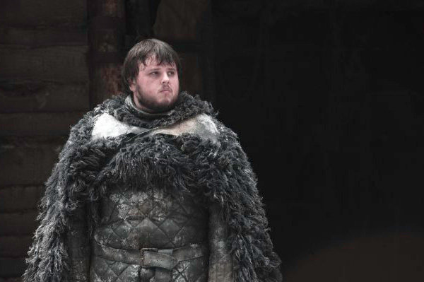 "<div class=""meta ""><span class=""caption-text "">John Bradley appears as Samwell Tarly in a scene from season 3 of the HBO show 'Game of Thrones.' (Helen Sloan / HBO)</span></div>"