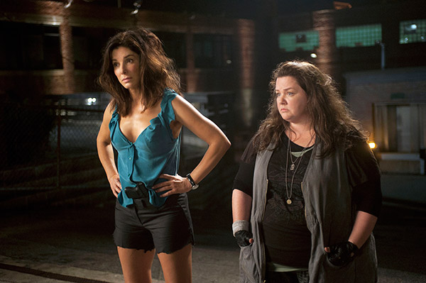 Sandra Bullock and Melissa McCarthy appear in a scene from the 2013 movie &#39;The Heat.&#39; Bullock plays an FBI agent and McCarthy plays a foul-mouthed Boston cop. They team up to try to nab a ruthless drug lord. <span class=meta>(Twentieth Century Fox Film Corporation)</span>