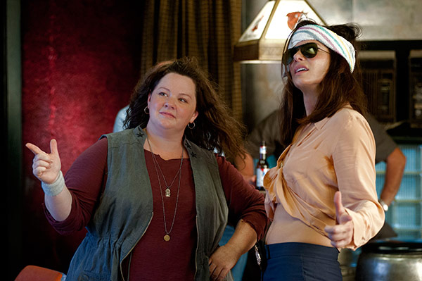 Sandra Bullock and Melissa McCarthy appear in a scene from the 2013 movie 'The He