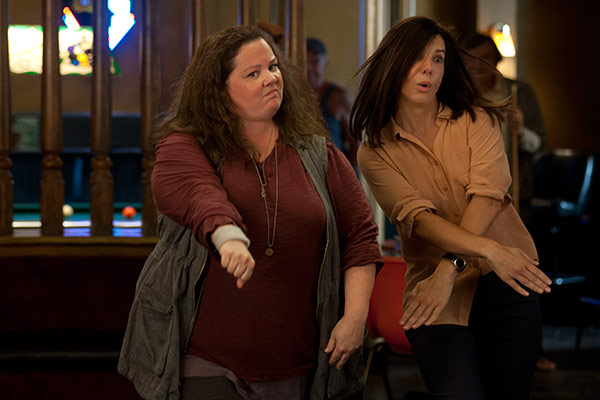 Sandra Bullock and Melissa McCarthy appear in a scene from the 2013 movie 'The Heat.' Bulloc
