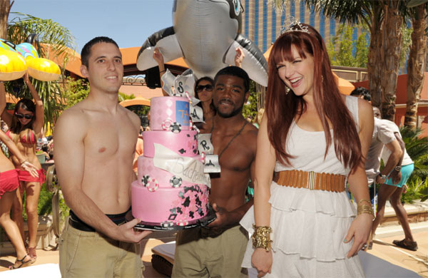 "<div class=""meta ""><span class=""caption-text "">Sara Rue appears at her bachelorette party at TAO Beach in Las Vegas on April 30, 2011. (Denise Truscello)</span></div>"