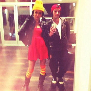 Sarah Hyland appears in a photo posted on her official Twitter page on October 27, 2012, with the caption, &#39;Yup! U guessed it :&#41; TJ and Spinelli :&#41; best costume ever? I think so!!!&#39; <span class=meta>(Twitter.com&#47; Sarah_Hyland)</span>