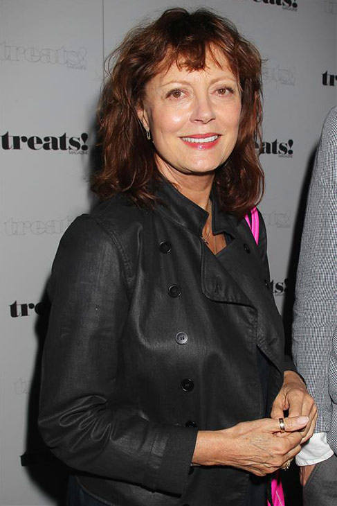 "<div class=""meta ""><span class=""caption-text "">Actress Susan Sarandon appears at a release party for husband Robin Thicke's album 'Blurred Lines' held at the No. 8 nightclub in New York on Sept. 4, 2013. (Dave Allocca / Startraksphoto.com)</span></div>"