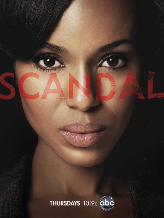Kerry Washington appears in a promotional poster for 'Scandal.'