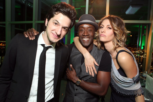 Ben Schwartz, Don Cheadle and Dawn Olivieri appear at the Los Angeles premiere of the Showtime series, 'House of Lies,' on Jan. 4, 2012.