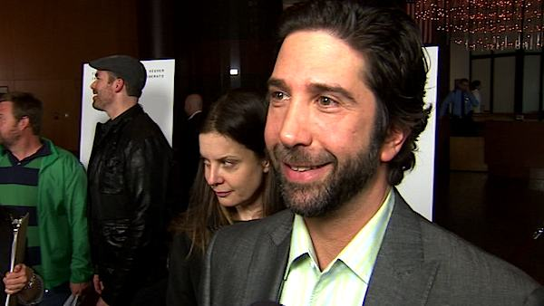 David Schwimmer turns 46 on Nov. 2, 2012. The actor is best known for his role as Ross Geller in the hit television show &#39;Friends.&#39;Pictured: David Schwimmer talks to OnTheRedCarpet.com about his new movie &#39;Trust&#39; in April 2011. <span class=meta>(OTRC)</span>