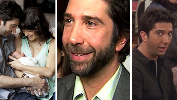 David Schwimmer and Zoe Buckman appear with daughter Cleo in a photo posted on his Twitter page on May 23, 2011. / David Schwimmer talks to OnTheRedCarpet.com about his 'Trust' in the spring of 2011. / David Schwimmer appears as Ross in 'Friends.'