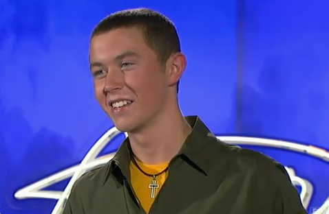 "<div class=""meta ""><span class=""caption-text "">Scotty McCreery, a 16-year-old from Garner, NC, was made an 'American Idol' Top 24 finalist. (Pictured: Scotty McCreery performs in front of the judges on 'American Idol' on an episode that aired on Jan. 26, 2011.) (Michael Becker / FOX)</span></div>"