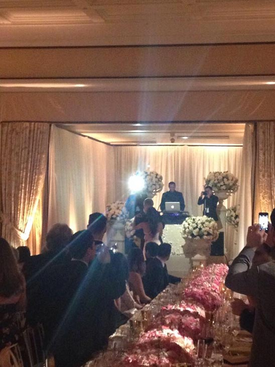 &#39;The Bachelorette&#39; season 8 contestant John Wolfner posted this Twitter photo of &#39;The Bachelor&#39; season 17 stars Sean Lowe and Catherine Giudici&#39;s first dance at their wedding on Jan. 26, 2014.  The event aired live on ABC from the Four Seasons Biltmore hotel in Santa Barbara, CA. <span class=meta>(twitter.com&#47;jwolfner&#47;status&#47;427662189818703872&#47;photo&#47;1&#47;large)</span>