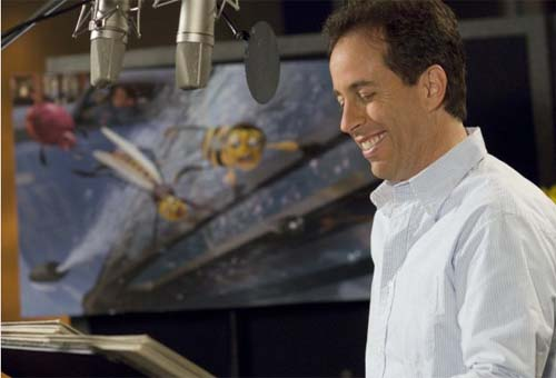Jerry Seinfeld working in the studio for the film, 'Bee Movie.'