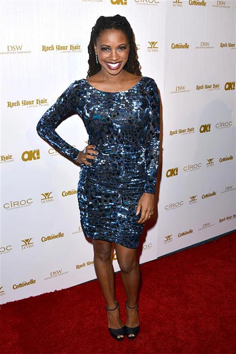 Shanola Hampton appears at OK! Magazine's pre-Oscar party in West Hollywood, California on Feb. 27, 2014.