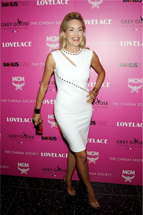 Sharon Stone attends a screening of &#39;Lovelace,&#39; hosted by the Cinema Society and MCM with Grey Goose, at the Metropolitan Museum of Art &#40;MoMa&#41; in New York on July 30, 2013. <span class=meta>(Marion Curtis &#47; Startraksphoto.com)</span>