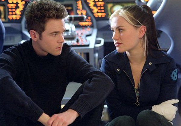 Shawn Ashmore and Anna Paquin appear in a scene from the 2003 film 'X2: X-Men United.'