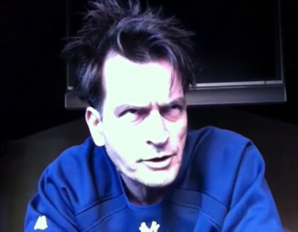 Charlie Sheen on his uStream webcast 'Sheen's Corner Episode 3, Torpedoes of Truth Part 2' on Monday,