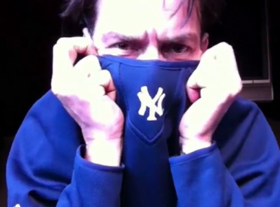 Charlie Sheen on his uStream webcast 'Sheen's Corner Episode 3, Torpedoes of Truth Part 2' on Monday, March 7, 2011.