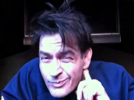 &#39;You notice how the word &#39;hell&#39; is in the word &#39;helicopter&#39;? - Charlie Sheen during &#39;Sheen&#39;s Corner Episode 3, Torpedoes of Truth Part 2,&#39; the actor&#39;s third uStream webcast posted on Monday, March 7, 2011. He is referring to a helicopter hovering above his home - a common occurence in Los Angeles. <span class=meta>(ustream.tv&#47;recorded&#47;13167959)</span>